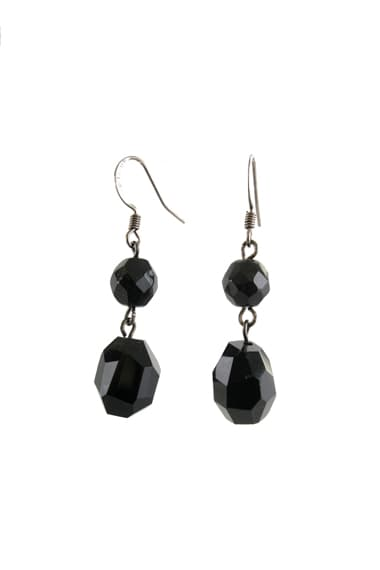 Black Agate and Jet Earings