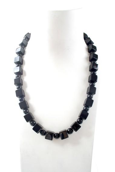 N003877 Black Agate cubes