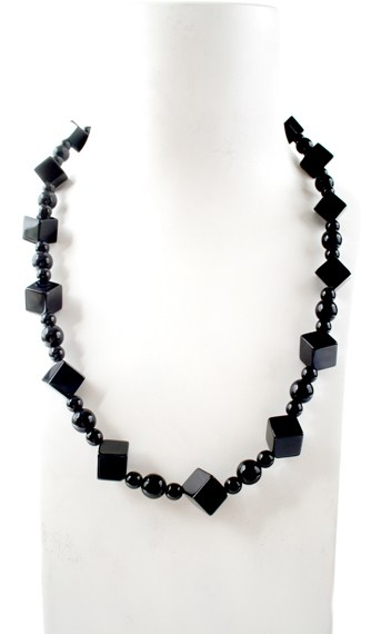 N003881 Black Agate Cubes