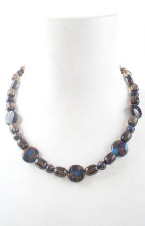 N004009 Bronzite Blue Agate Smoky