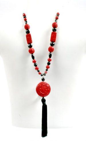 N004041 Cinnabar Onyx Red Coral