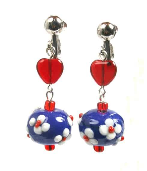 Red Blue Earings