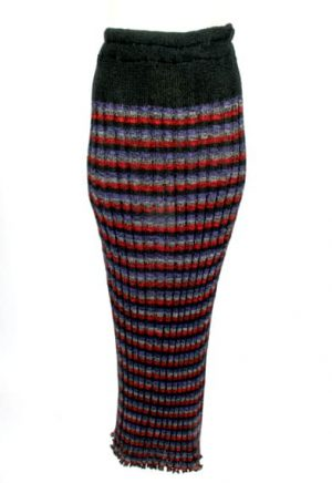 Strped Ribbed Skirt