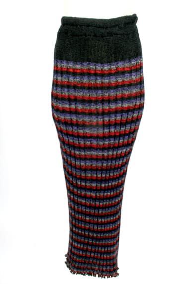 Strped Ribbed Skirt