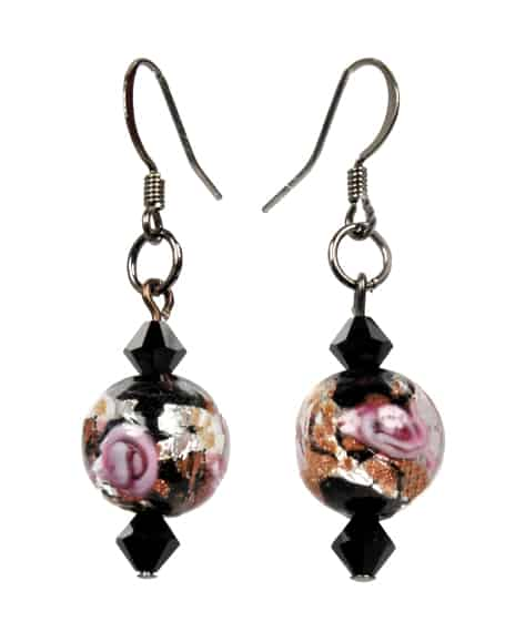 Hand-made glass earings