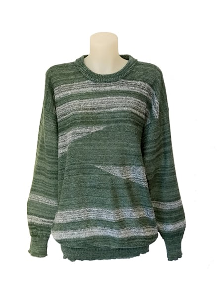 Geometric Sweater Green