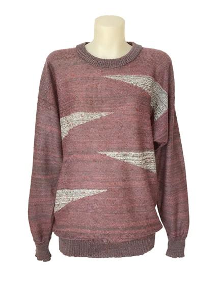 Geometric Wedge Sweater