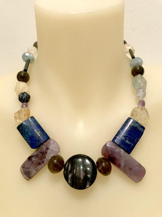 N004121 Lapis Mixed necklace