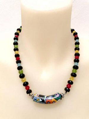 N004123 Crystal Onyx necklace