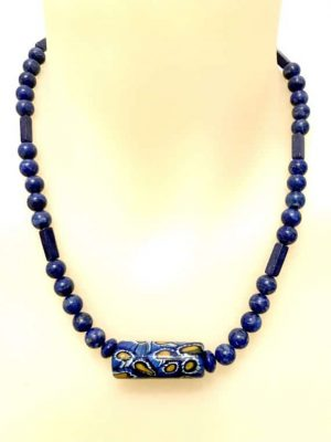 N004124 Lapis necklace