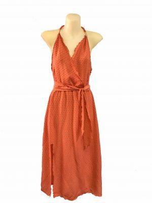 Silk halter neck dress
